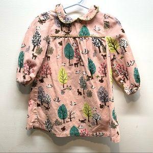 Mini Boden Corduroy woodland dress 12-18 months